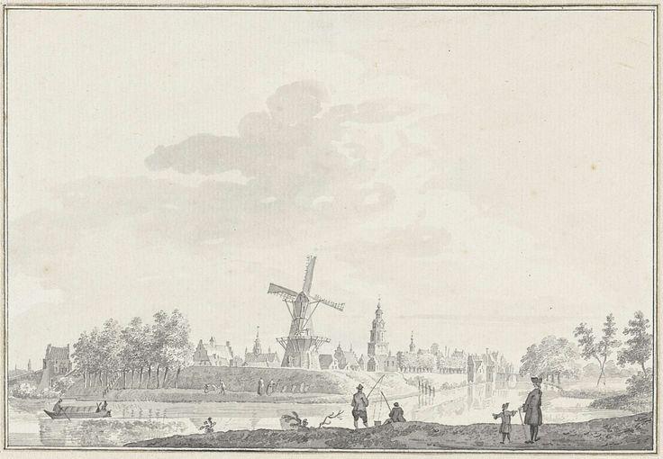 Gezicht op de stad Buren, Pieter Jan van Liender, 1750