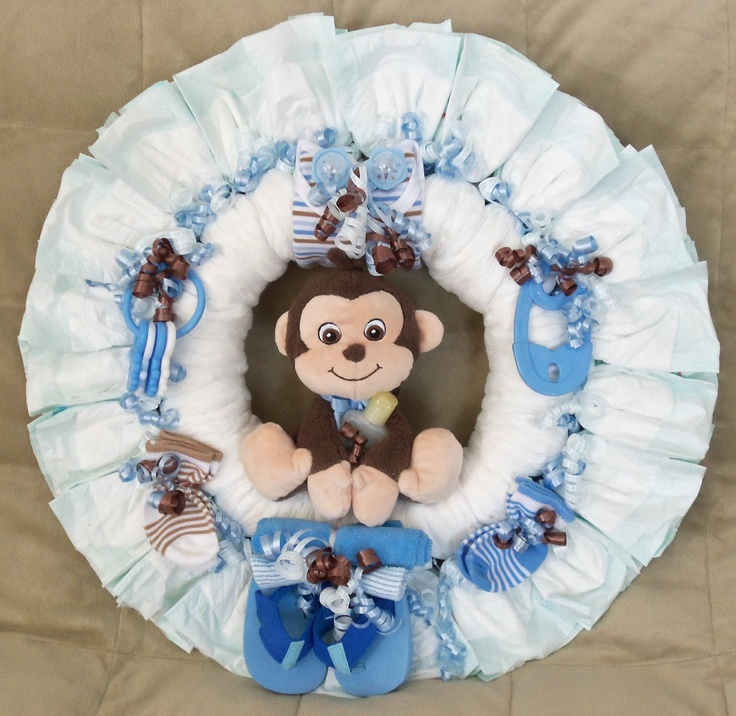 928 best crafts wreaths for all occasions images on for Diaper crafts for baby shower