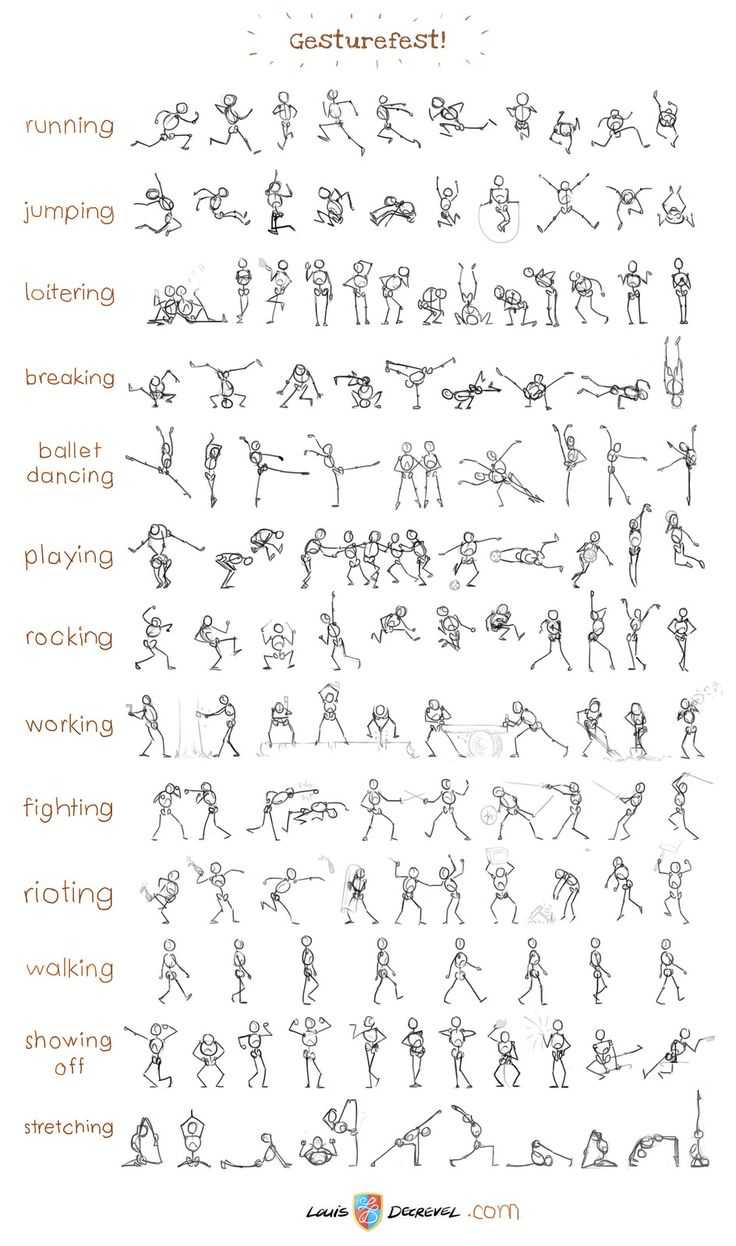 I like this picture because it shows different ways to draw people and helps to guide you to draw a vary of positions.