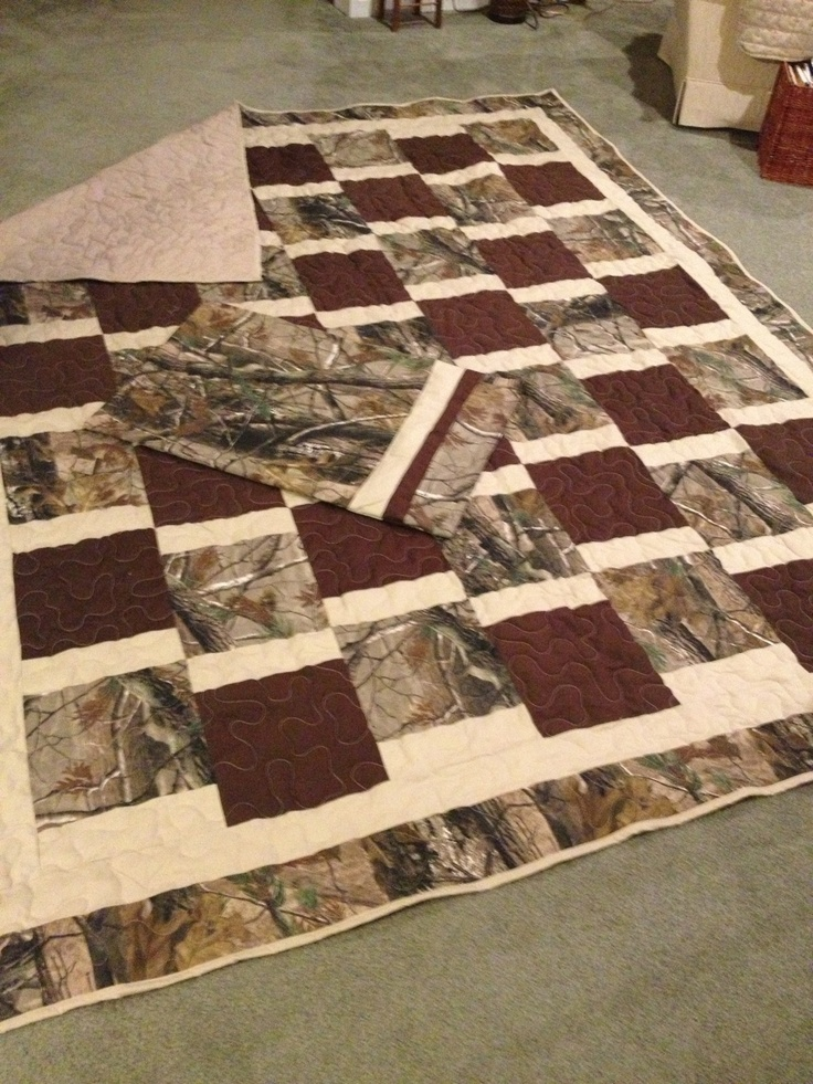 Camo quilt & pillowcase -- requested by my grandson.