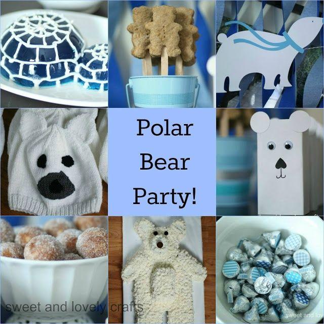 sweet and lovely crafts: polar bear birthday!