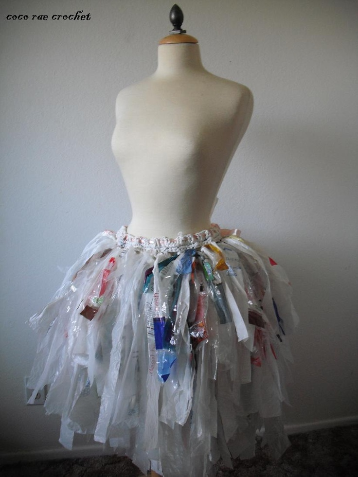 Recycled Plastic Bag Tutu. $225.00, via Etsy. | art stuff ...