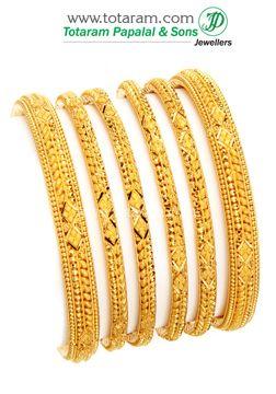 Totaram Jewelers: Buy 22 karat Gold jewelry & Diamond jewellery from India: Gold Bangles