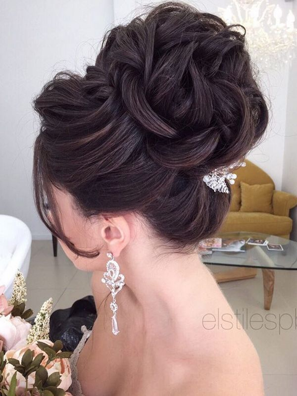 Elstile Long Wedding Hairstyle Ideas / http://www.deerpearlflowers.com/26-perfect-wedding-hairstyles-with-glam/2/