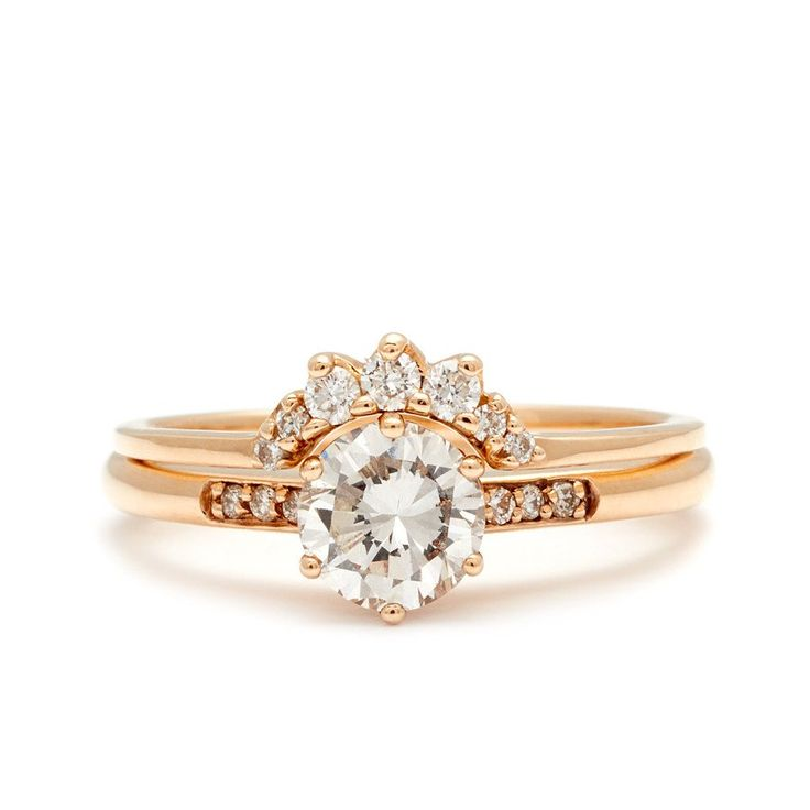 Hazeline Ceremonial Suite No.25| Engagement Rings – Anna Sheffield Jewelry