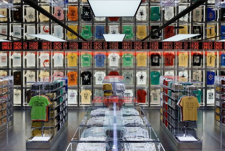 Uniqlo flagship store by Wonderwall, Tokyo store design #reflective