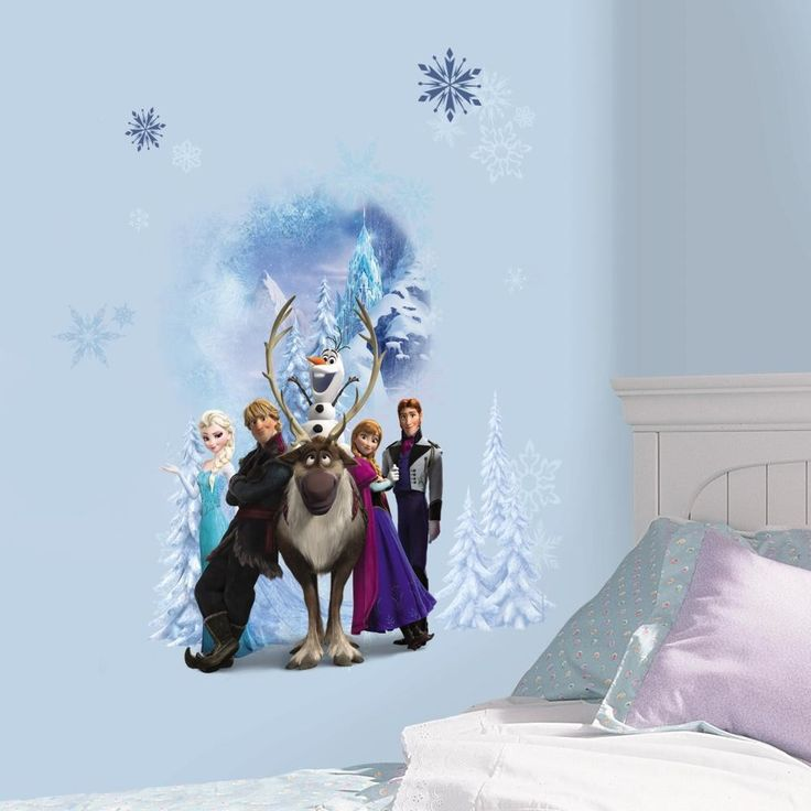 Internet Only Disney Frozen Character Winter Burst Wall Decal
