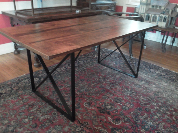 Dining Table with iron base Reclaimed Wood Farm Dining  : 1571953d78fd6d89f17e90fc1c0d5cff from www.pinterest.com size 736 x 552 jpeg 158kB