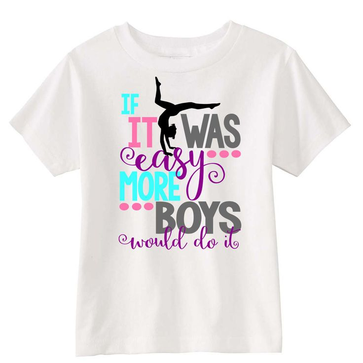 This adorable Gymnastics Children's T-Shirt is perfect for the active girl! 100%…