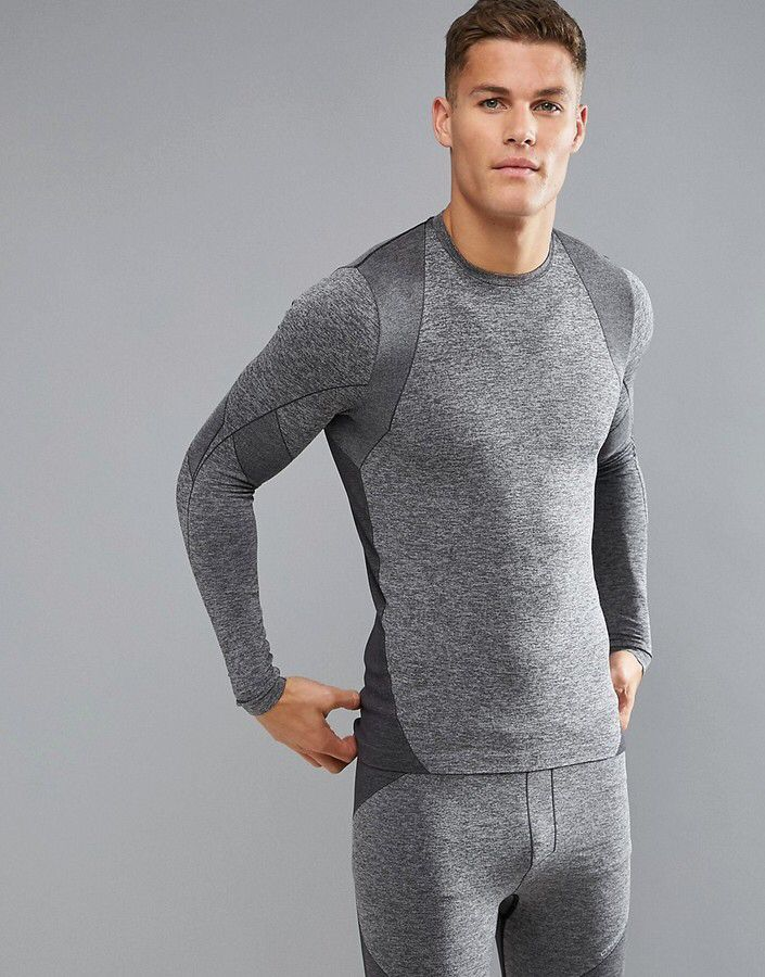 O'Neill Activewear Seamless Long Sleeve Top Baselayer, Men's base layers, O'Neill sports wear, cold weather base layers, skiing base layers, snowboarding base layer,  breathable, moisture wicking, athletic wear, gym wear, men's fitness, sports wear, health wear, weight loss wear, activewear, #affiliate, #ad