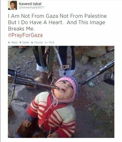 The israeli soldiers pointing guns at an innocent toddler. So much for self defense. This an innocent baby. HOW IS SHE A THREAT!!?? You don't have to be a Palestinian or a Muslim to care...you just have to be a human with a heart.