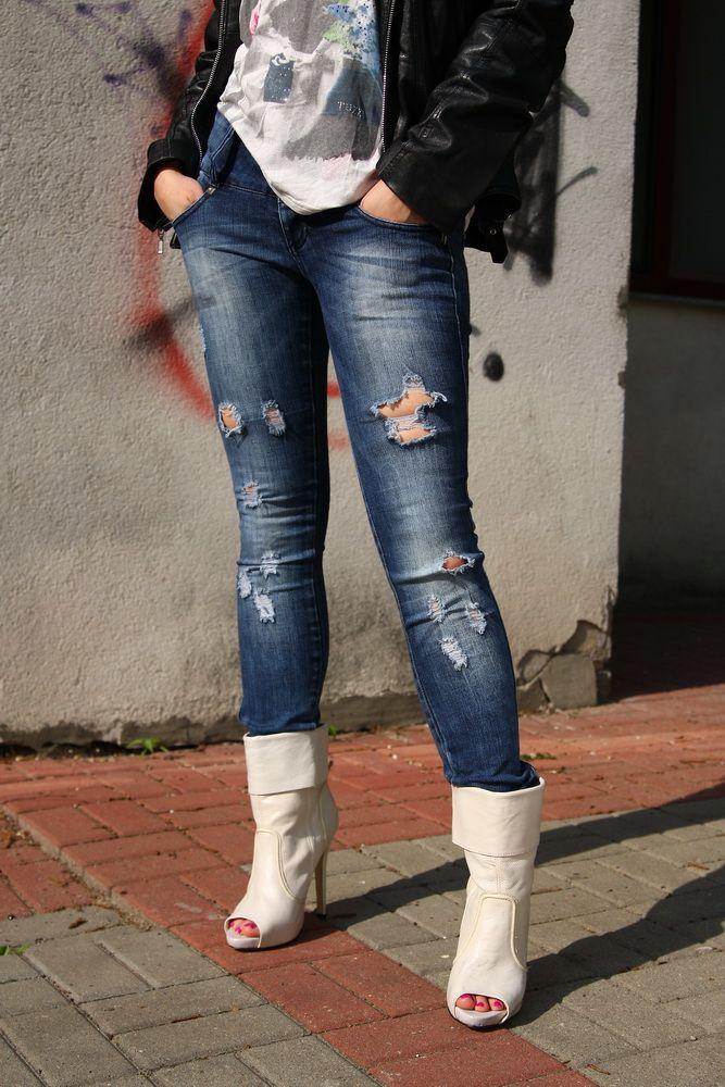 Stylizacja rockowa. #eccofashion #ecco #style #fashion #white #rock #spring #beautiful #jeans #trousers