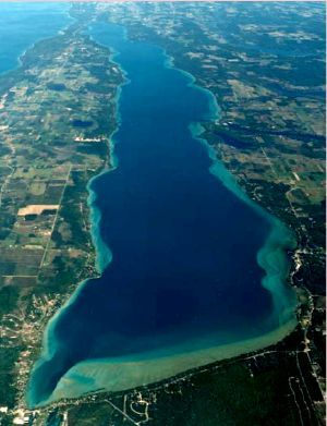Torch Lake in Michigan...absolutely gorgeous crystal clear caribbean blue waters and no salt!