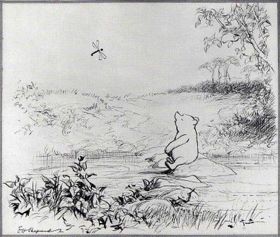 Winnie the Pooh (I actually have part of this image as a tattoo)