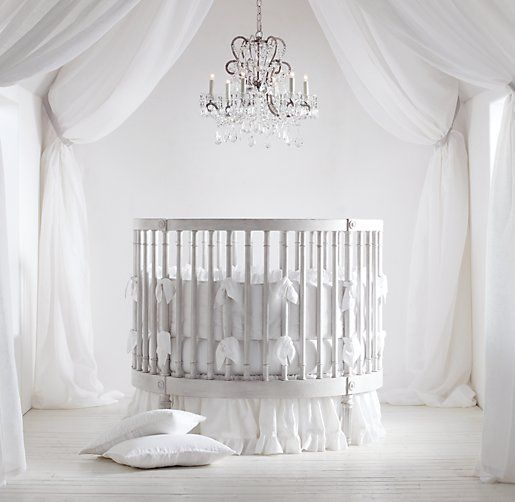 Ellery Round Crib & Mattress | Cribs & Bassinets | Restoration Hardware Baby & Child