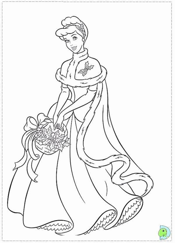 Christmas Disney Princess Coloring Pages For Kids In 2020 Princess Coloring Pages Disney Princess Coloring Pages Cinderella Coloring Pages
