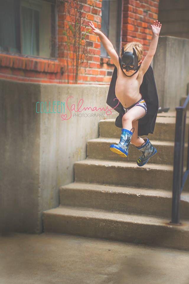 Child toddler boy photography cape superhero costume prop