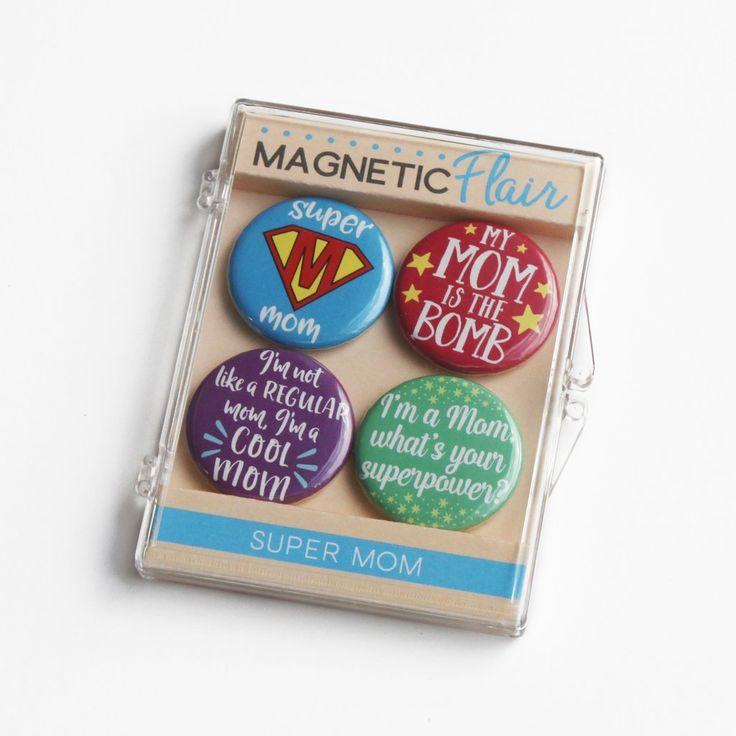 Super Mom Magnet Set - Mother's Day Magnets, Mother's Day Magnet Set, Mother's Day Gift, Gift for Mom, Gift Ideas for Mom, Magnets for Mom, Magnet Set for Mom, Birthday Gift for Mom, Christmas Gift for Mom, Xmas Gift for Mom, Mom Birthday Gift, Mom Christmas Gift, Canvas Tote Bag for Mom