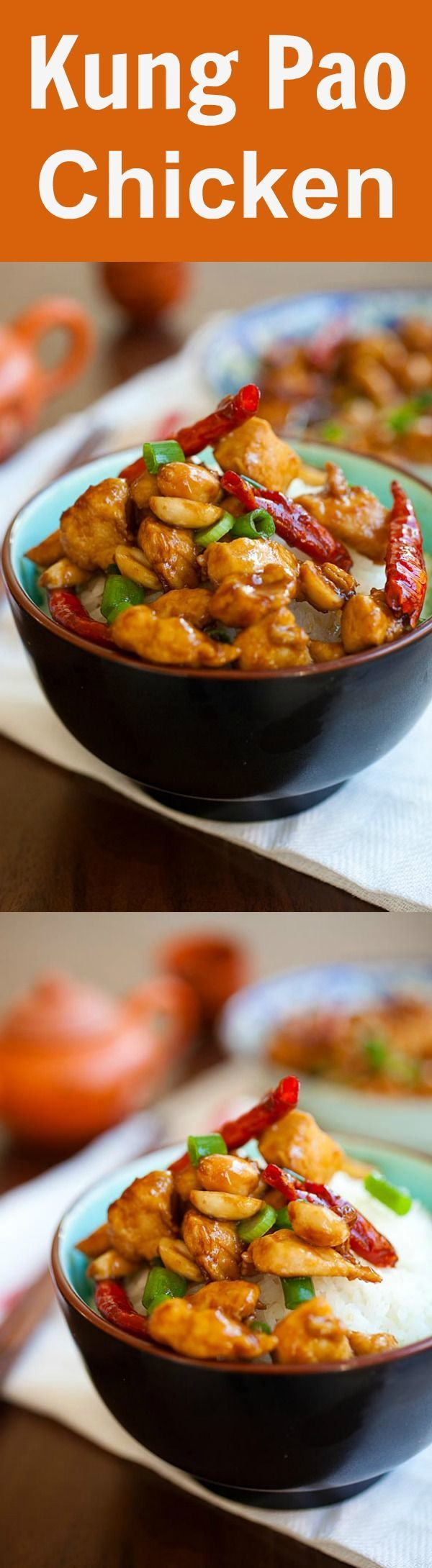 3299 best chinese food recipes images on pinterest asian food kung pao chicken healthy homemade chinese chicken in savory and spicy kung pao sauce best kung pao chicken recipe ever much better than takeout forumfinder Choice Image