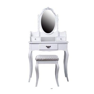HomCom Antique-Styled Vanity Dressing Table Canada online at SHOP.CA - 02-0173. This Antique-Styled Vanity is elegantly designed with your needs in mind. As a vanity it features a tilting mirror as well as 3 dr Bedroom Vanities