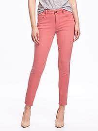 Mid-Rise Pop-Color Rockstar Jeans for Women