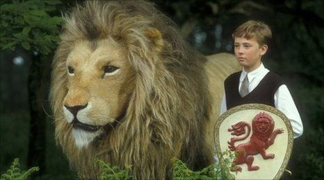 Aslan and Peter from C.S. Lewis stories of Narnia - The ...