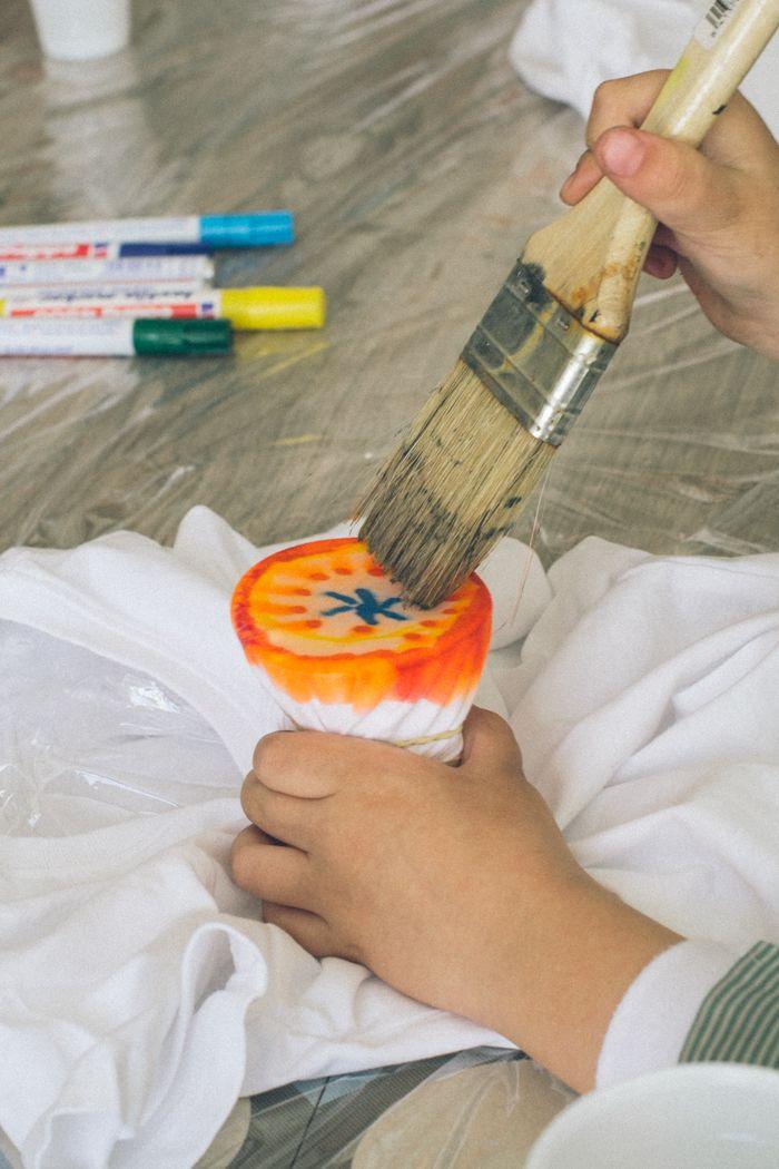 pintar camisetas niños