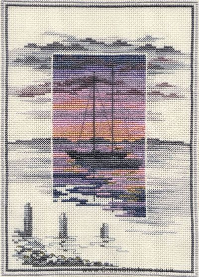 Waters Edge - Sunsets - Cross Stitch Kit by Derwentwater Designs