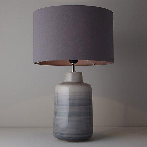 Buy John Lewis Aditi Ceramic Table Lamp, Grey Online at johnlewis.com