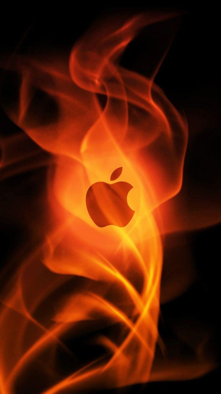 Cool Apple Logo iPhone 6 Wallpaper 23075 - Logos iPhone 6 Wallpapers #Fire…