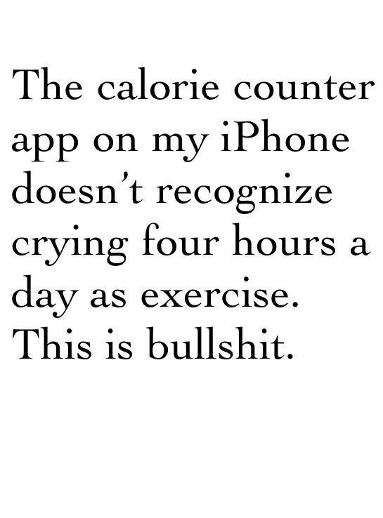calorie counter app - QS PRN