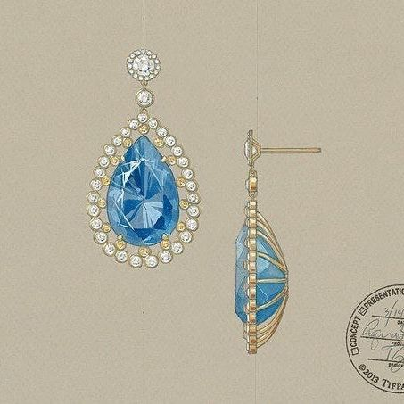 Design by @tiffanyandco #jewelryrendering #jewelrydesigner #jewelrydesign #jewellery #tiffanyandco #earrings
