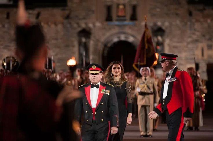 King Abdullah and Queen Rania at 2016 Edinburgh Military Tattoo.. August 6th…