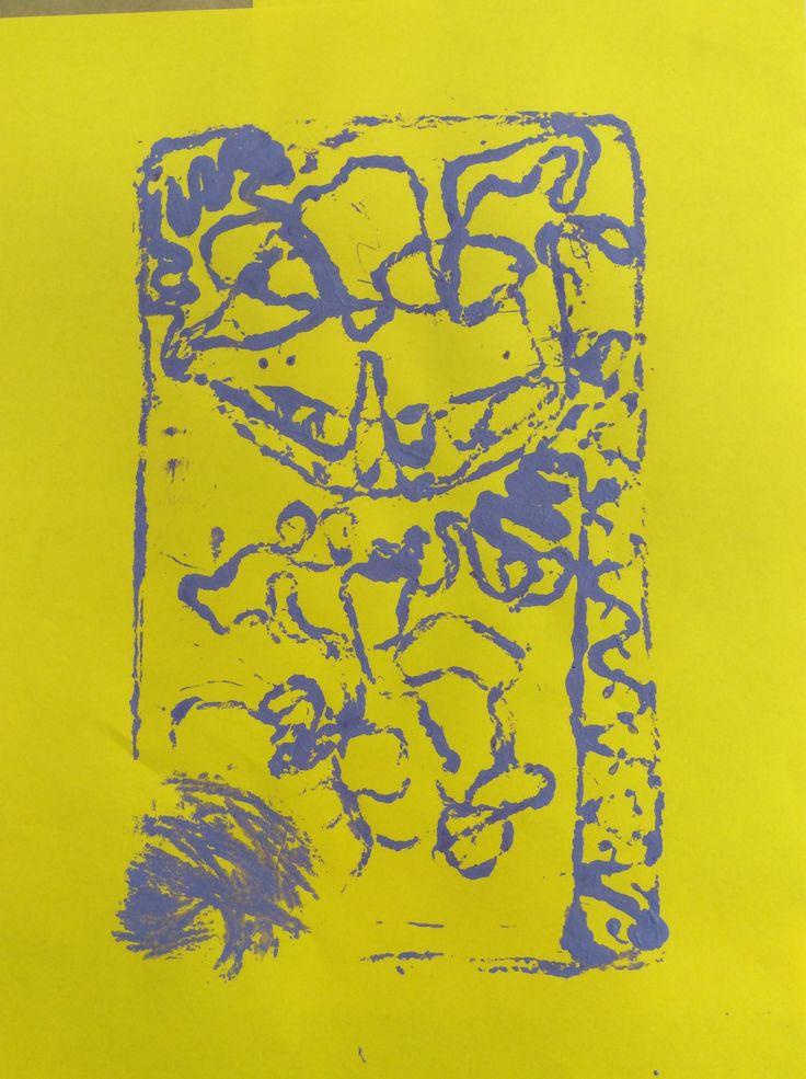 Collagraph Printmaking 2/4. Kim. 2015.