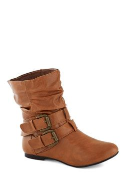 Spruce Up Your Style Boot in Caramel, #ModCloth