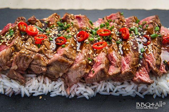 BBQ4All - Beef Teriyaki - Tagliata di manzo con salsa taré e riso basmati