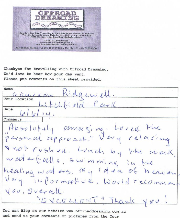 Feedback from Litchfield Day Tour with Offroad Dreaming