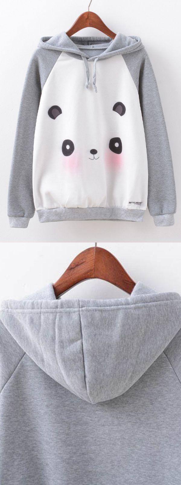 Sweatshirts 80s cute women cartoon panda printed long sleeve hoodies #80s #sweatshirts #for #sale #oconnor #sweatshirts #sweatshirts #express #sweatshirts #tillys