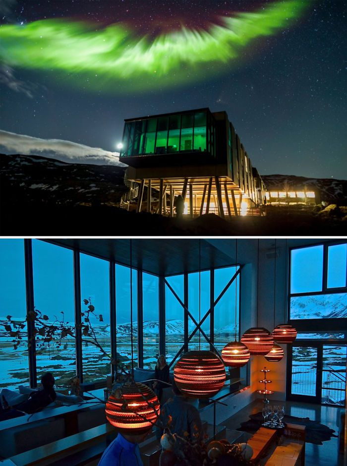 Perfect Location To View The Northern Lights – Northern Lights Bar In Ion Hotel, Iceland | Bored Panda