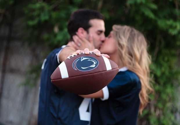 Cute for engagement pics but of course it would be WVU :) <3