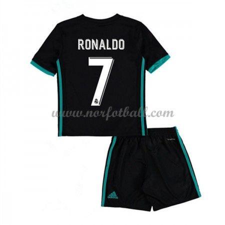 Billige Fotballdrakter Real Madrid Barn 2017-18 Cristiano Ronaldo 7 Borte Draktsett Fotball Kortermet