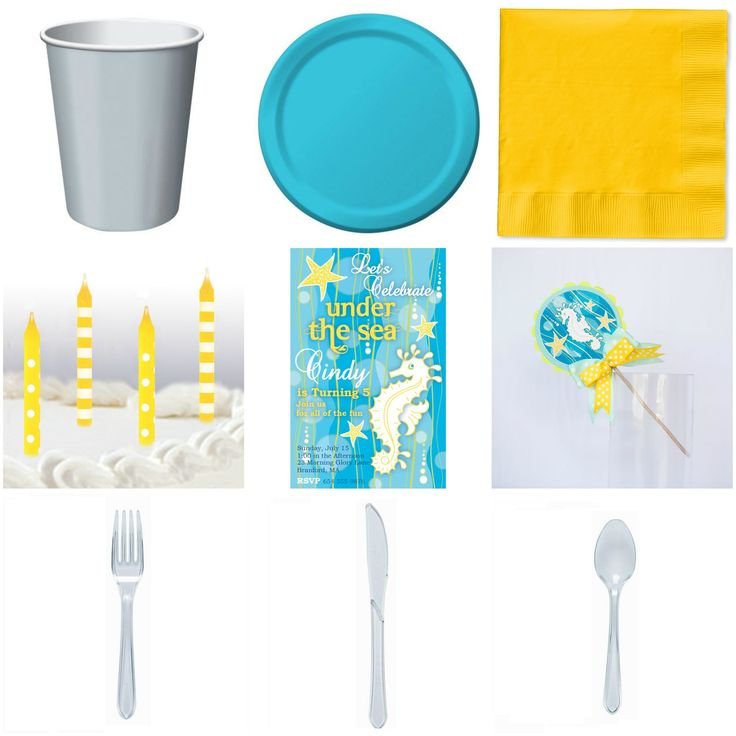 Kid Birthday Ocean Basic Party-in-a-box