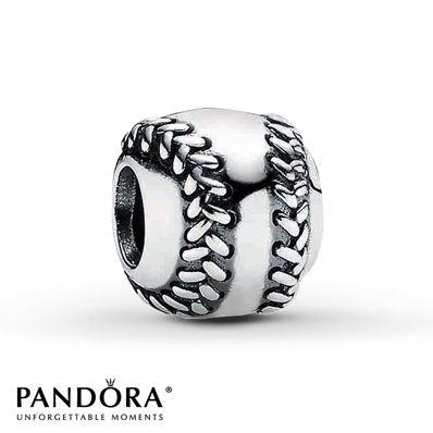 Pandora Charm Baseball Sterling Silver