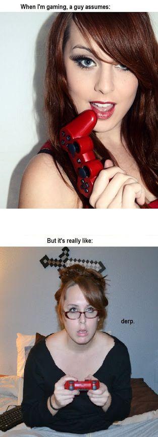 Gaming Girl Meme | Slapcaption.com