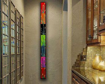 5 Ft Tall Narrow Wall Art Large Long Floral Wall Panel Modern Home