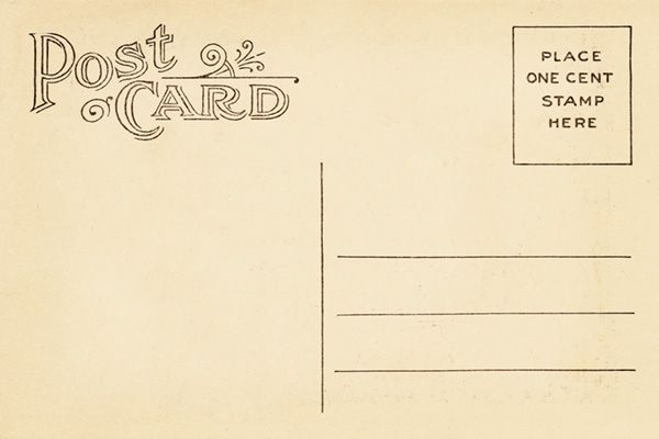 Vintage postcard back template vintage postca design for Backside of postcard template