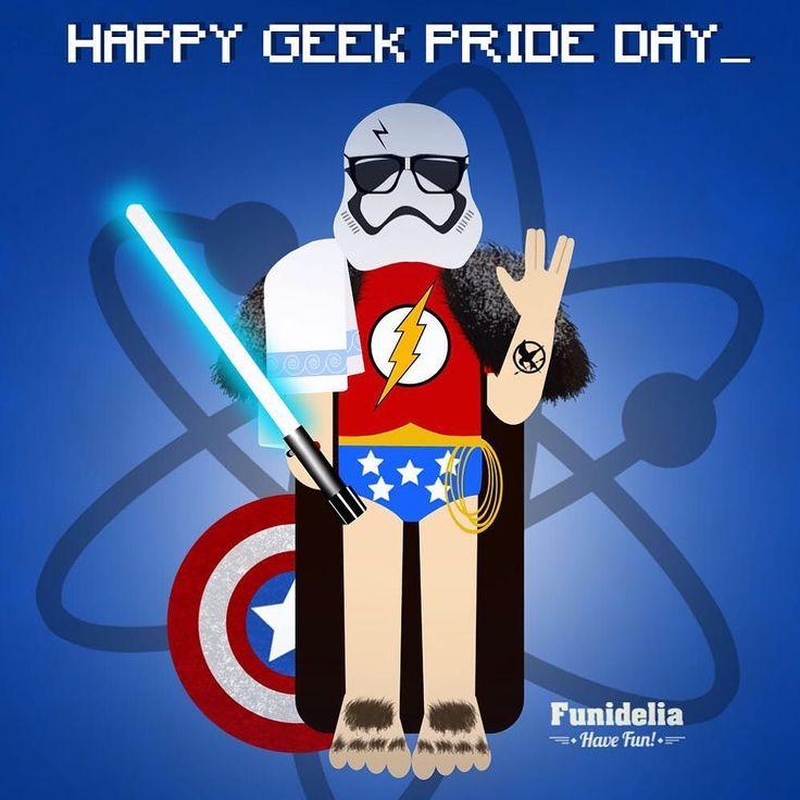 Today is special...Happy #GeekPrideDay !! Bonne fête à tous les #geeks !! #Journéemondialedesgeeks Feliz día del orgullo Friki!! . . . . . #orgullofriki #geek #nerd #bigbangtheory #starwars #stormtrooper #captainamerica #gameofthrones #lordoftherings #Jonsnow