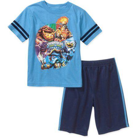 Skylanders Swap Force Boys' 2 Piece Short Sleeve Tee and Short, Blue