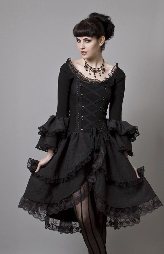 black dress #gothic #fashion #gothic_fashion #goth