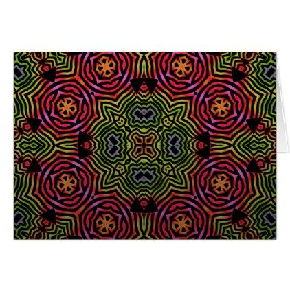 Greeting Card - Psychedelic Pattern - birthday cards invitations party diy personalize customize celebration